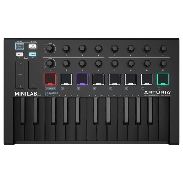 Arturia MiniLab Universal MKII MIDI Controller, Deep Black -