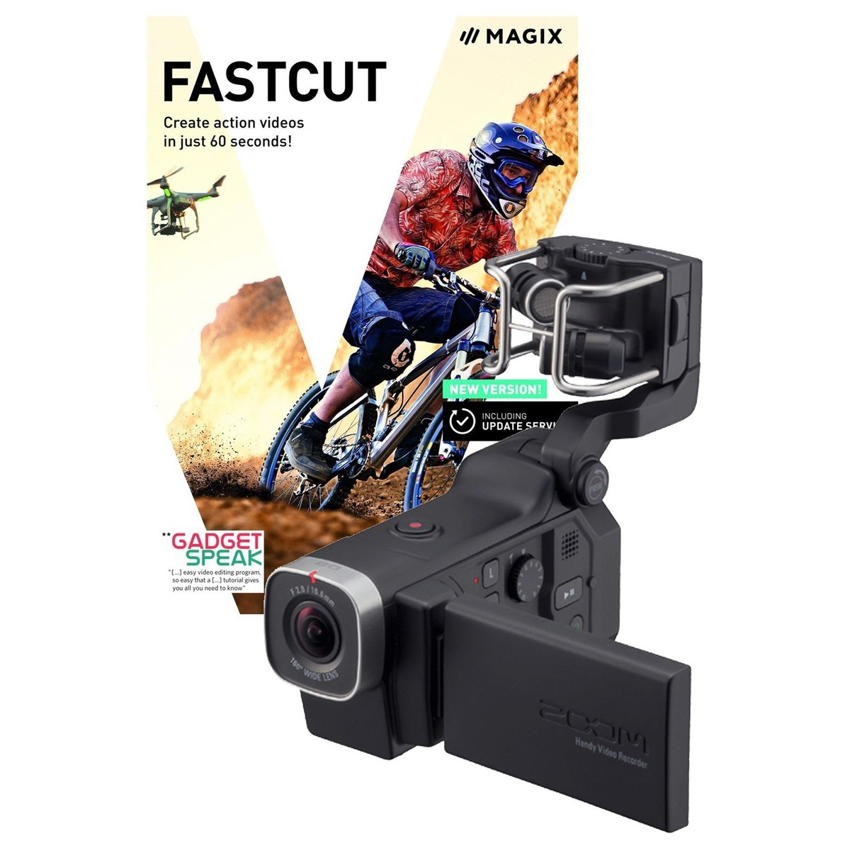 Zoom Q8 Handy Video Recorder with Fastcut Video Editing Software