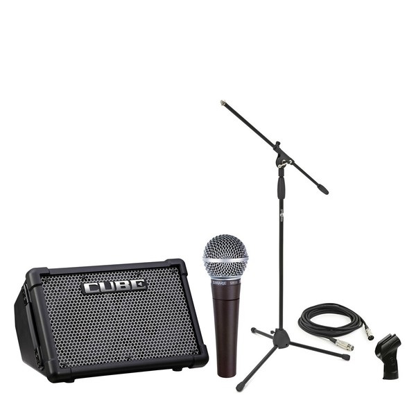 Roland Cube Street EX with Shure SM58 - Performance Pack