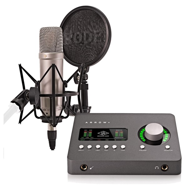 Universal Audio Arrow and Rode NT1-A Recording Pack