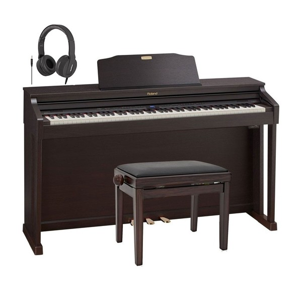 Roland HP504 Digital Piano Package, Rosewood