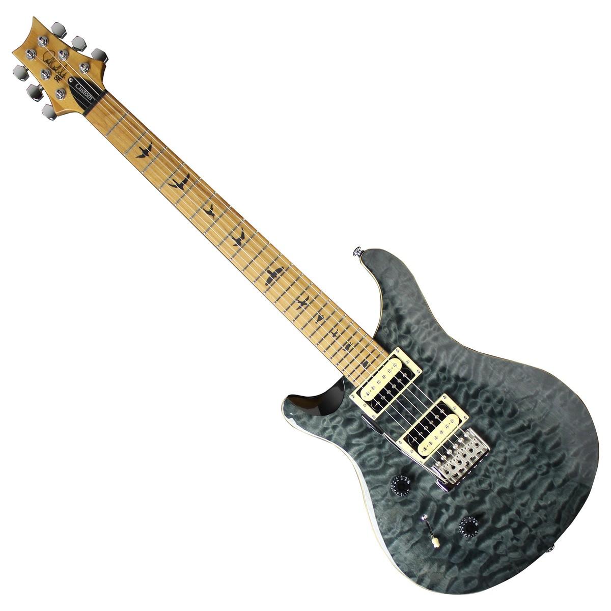 Prs Se Custom 24 Roasted Maple Neck Left Handed Grey Black At Gear4music