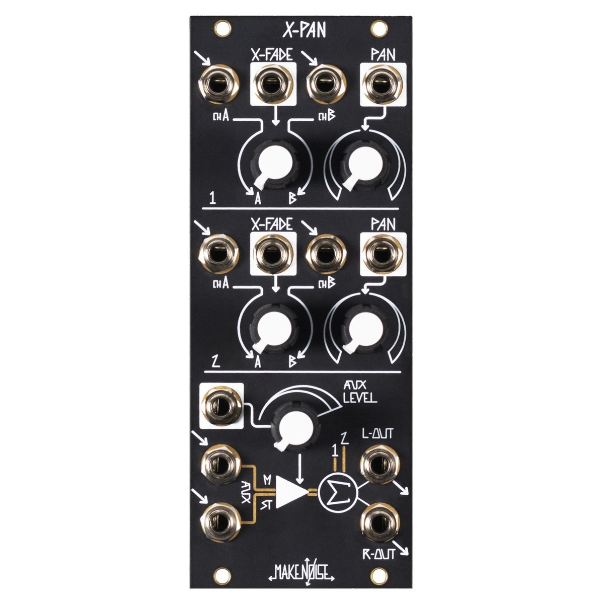 Make Noise X-Pan 5-Channel Stereo Mixer (10hp)