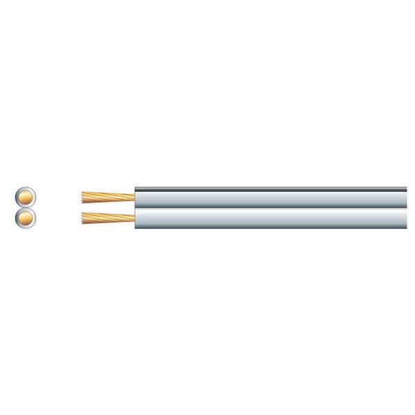 Mercury Economy Fig 8 Speaker Cable, 2x42 Wht/Black 100m