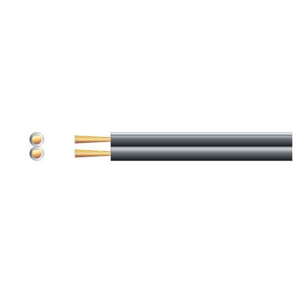 Mercury Economy Fig 8 Speaker Cable, 2x79 Black/Wht 100m