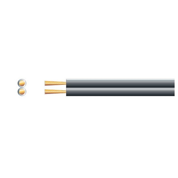 Mercury Heavy Duty Fig 8 Speaker Cable, 2x79 Black 100m