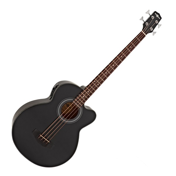 Electro Acoustic Bass Guitar by Gear4music, High-Gloss Black