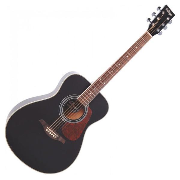 Vintage V300 Folk Acoustic Outfit, Black
