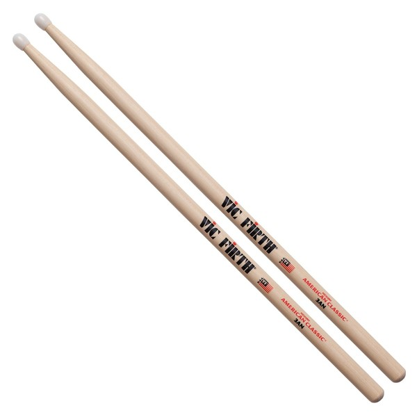 Vic Firth American Classic 3AN Drumsticks, Nylon Tip
