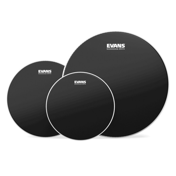 "Evans Onyx Rock Tom Pack 10"" 12"" 16"""