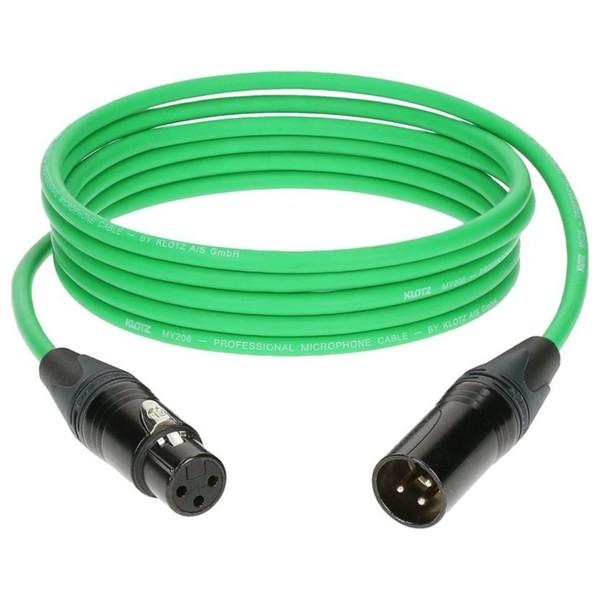 Klotz M1 XLR Microphone Cable Green, 20m