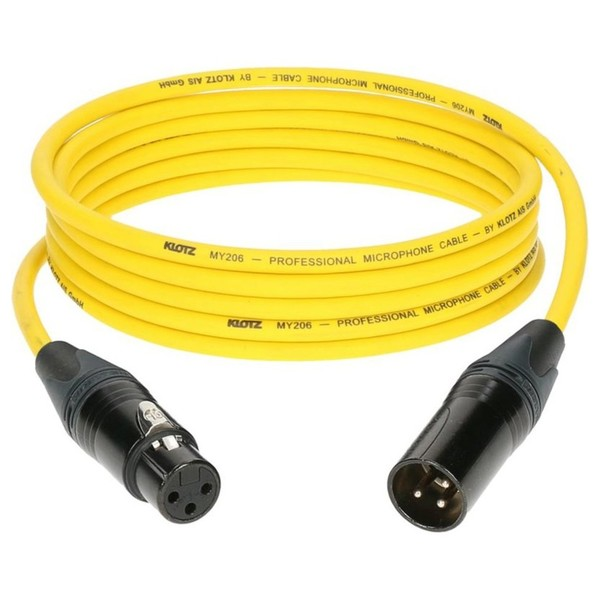 Klotz M1 XLR Microphone Cable Yellow, 1m