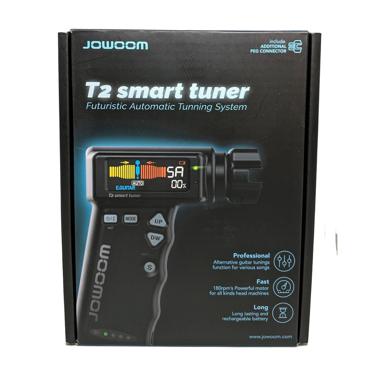 jowoom t2 smart automatic guitar tuner at gear4music. Black Bedroom Furniture Sets. Home Design Ideas