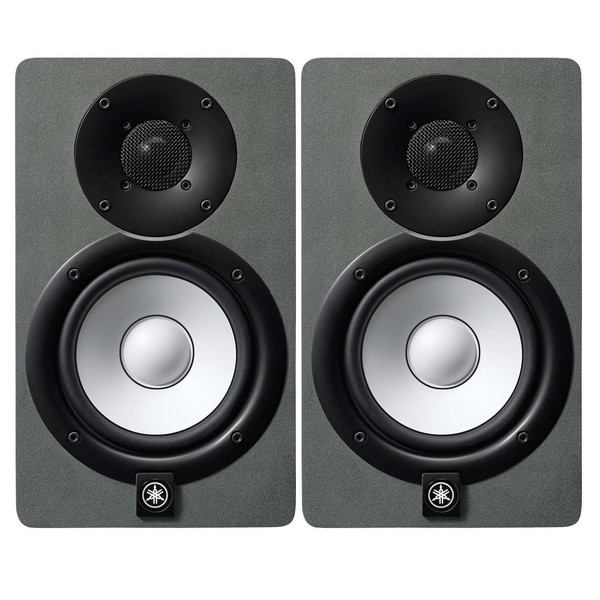Yamaha HS5 Active Studio Monitor, Pair, Limited Edition Space Grey - Full Bundle