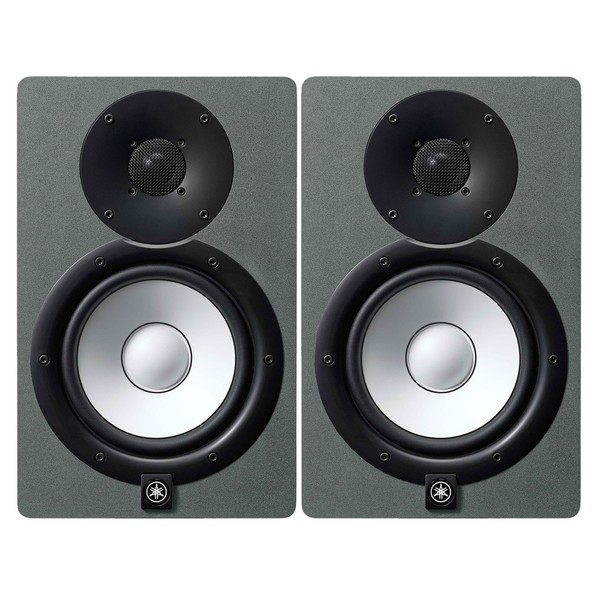 Yamaha HS7 Active Studio Monitor, Pair, Limited Edition Space Grey - Full Bundle
