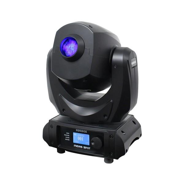 Equinox Midas Spot LED Moving Head, Front Angled Lit
