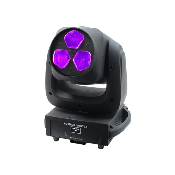 Equinox Vortex LED Moving Head, Front Angled Lit