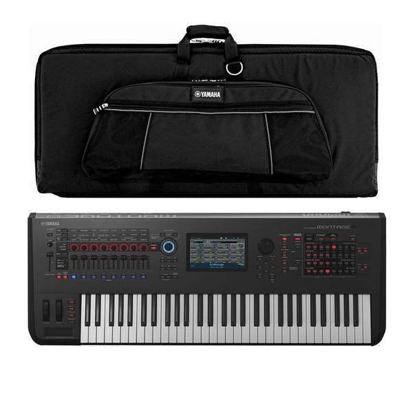 Yamaha MONTAGE 6 Synthesizer with Soft Case - Full Bundle