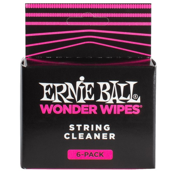 Ernie Ball Wonder Wipe String Cleaner, 6 Pack - Front View