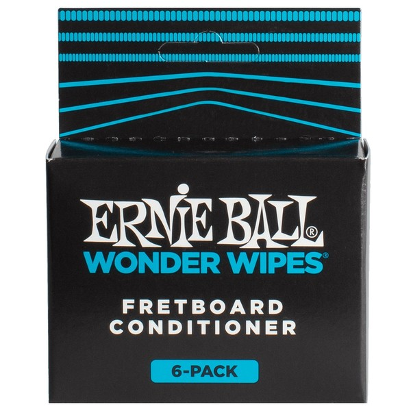 Ernie Ball Wonder Wipe Fret Conditioner, 6 Pack - Front View