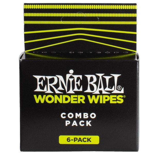 Ernie Ball Wonder Wipes Combo, 6 Pack - Front View