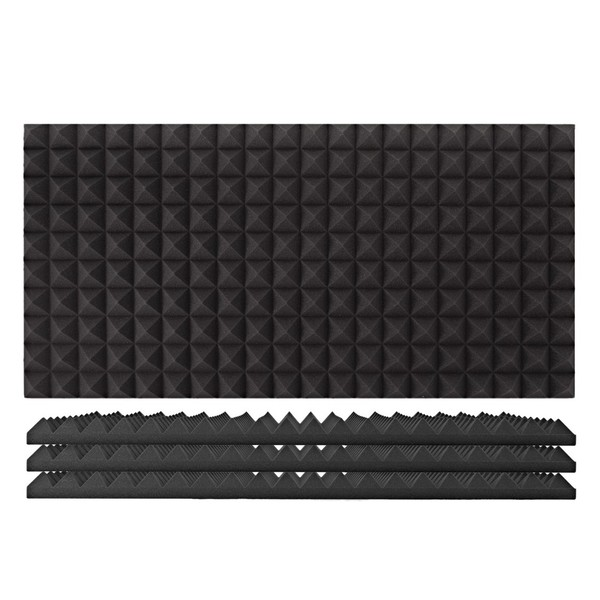 AcouFoam 100x50cm Acoustic Panel by Gear4music, Pack of 4