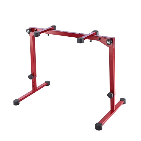 K&M 18820 Omega Pro Table Style Keyboard Stand, Red
