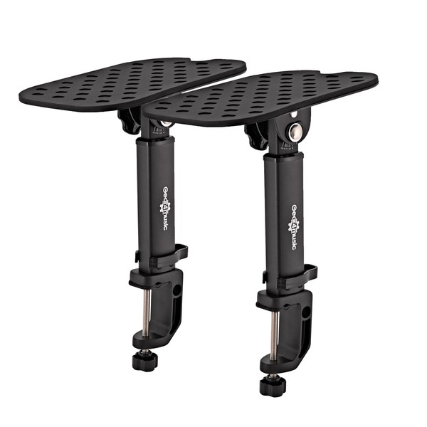Desk Clamp Monitor Speaker Stands by Gear4music