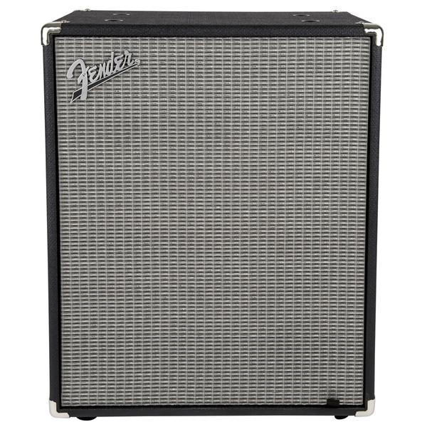Fender Rumble 2x10 Bass Cabinet, Black/Silver