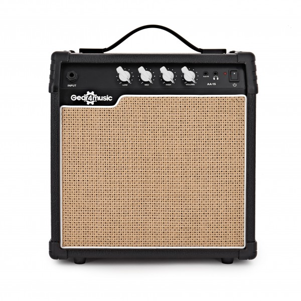 15W Acoustic Guitar Amp by Gear4music Main