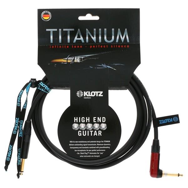 Klotz Titanium Angled Guitar Cable, 9m