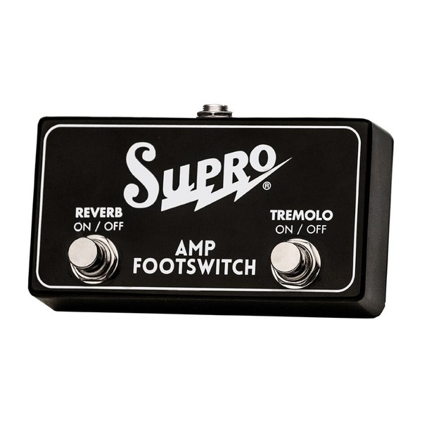 Supro Dual Button Footswitch Tremolo & Reverb On/Off Remote