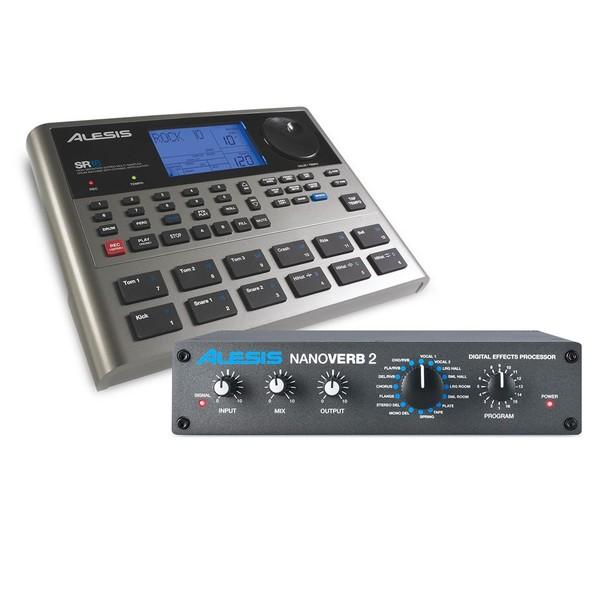 Alesis SR-18 Drum Machine Effects Processor Bundle - Full Bundle