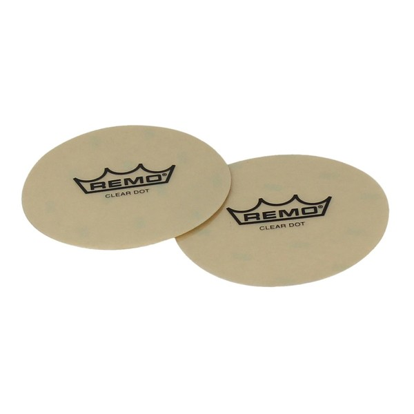 Remo 4'' Clear Dot Sound Control Patch 2 Pack