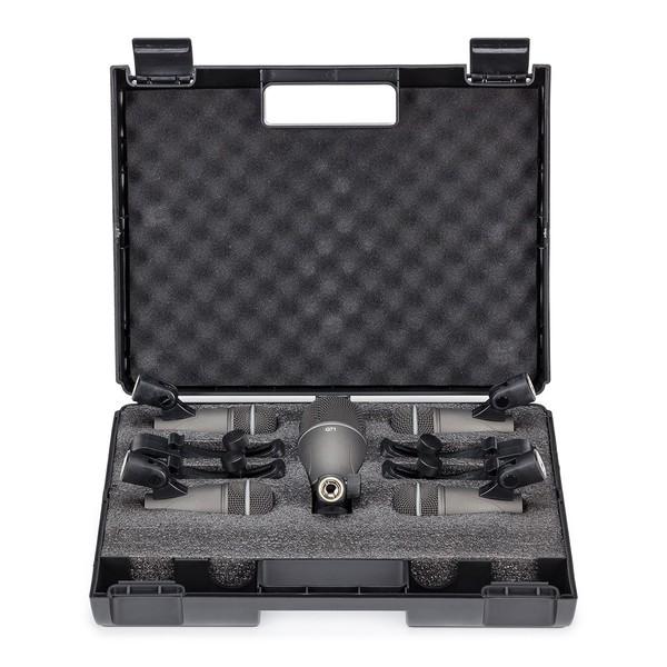 Trommemikrofonsett med 7 Deler og Bærekoffert fra Gear4music