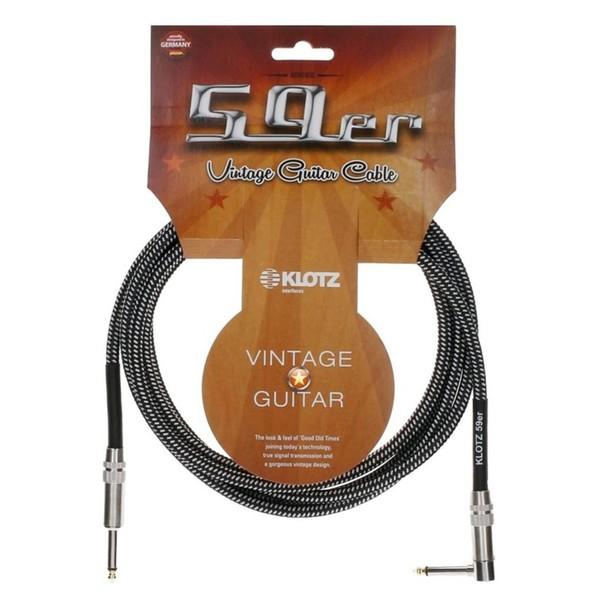 Klotz Vintage 59er Angled Guitar Cable, 4.5m