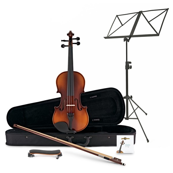 Student Full Size Violin + Accessory Pack by Gear4music, Antique Fade