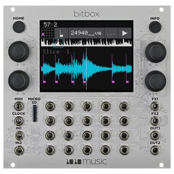 1010music Bitbox Touchscreen Sampler Module (26HP) - Main