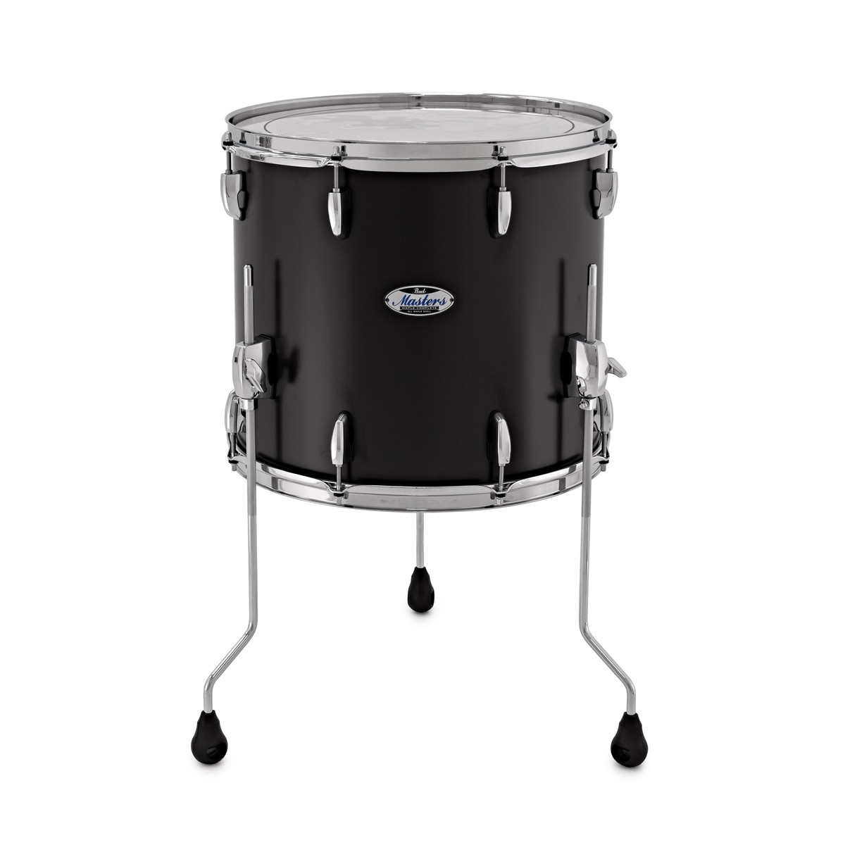 Click to view product details and reviews for Pearl Masters Maple Complete 16 X 14 Floor Tom Matte Caviar Black.