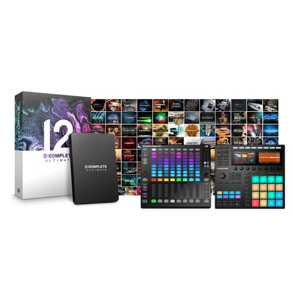 Native Instruments Maschine MK3, Jam and Komplete 12 Ultimate Bundle - Full Bundle