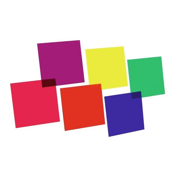 Eurolite 24 cm x 24 cm Colour Gels, Six Pack