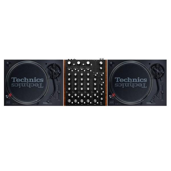 Technics SL-1210 MK7 Turntables with Rane MP2015 Rotary DJ Mixer - Full Bundle