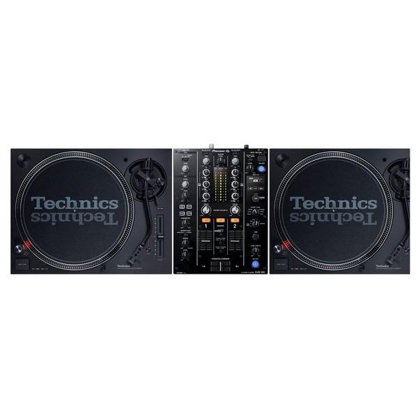 Technics SL-1210 MK7 Turntables with Pioneer DJM-DJM-450 - Full Bundle