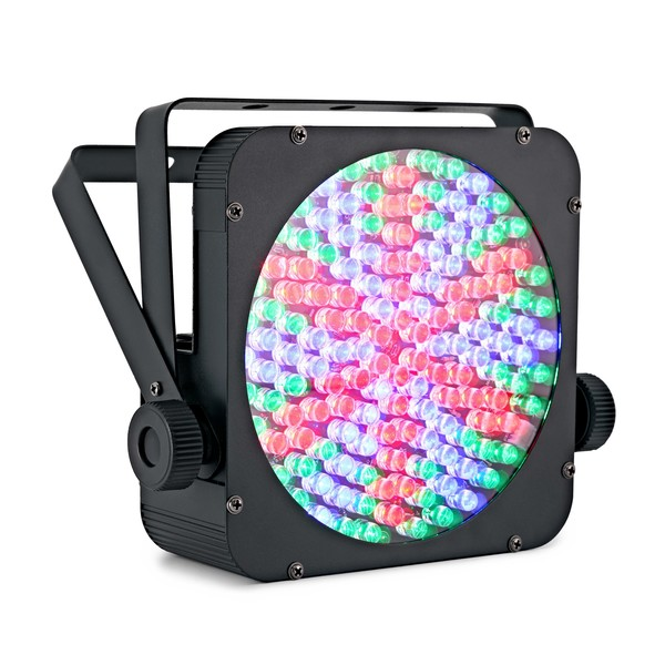 Sol 144 x 10mm Flat LED Par Can by Gear4music angle