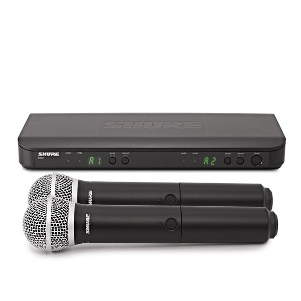 Shure BLX288UK/PG58-K3E Dual Handheld Wireless Microphone System
