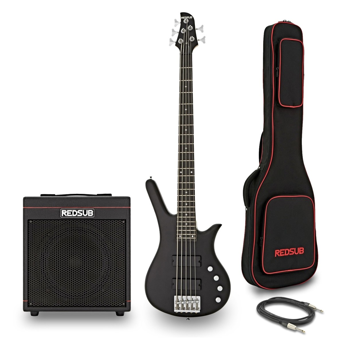 redsub fn5 5 string bass and ba 30 amp bundle black at gear4music. Black Bedroom Furniture Sets. Home Design Ideas