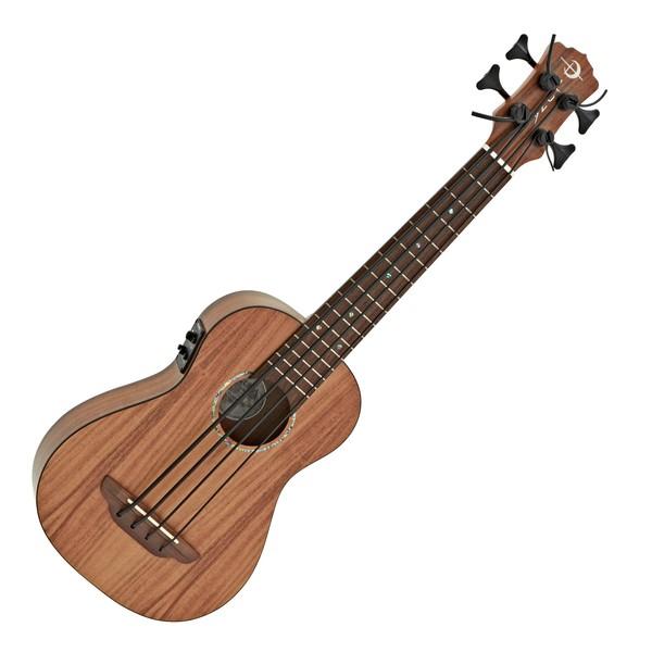Luna Bari Electro Acoustic Ukulele Bass, Koa