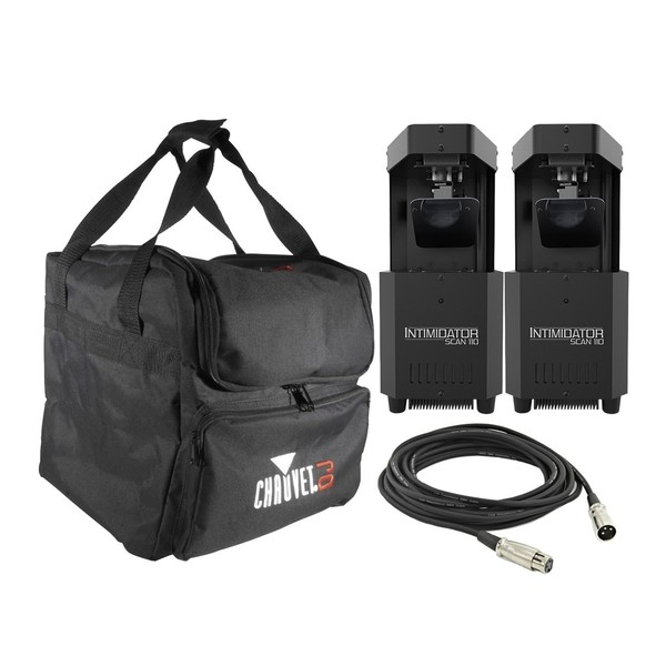 Chauvet DJ Intimidator Scan 110 LED Scanner - Pair with Bag and Cable