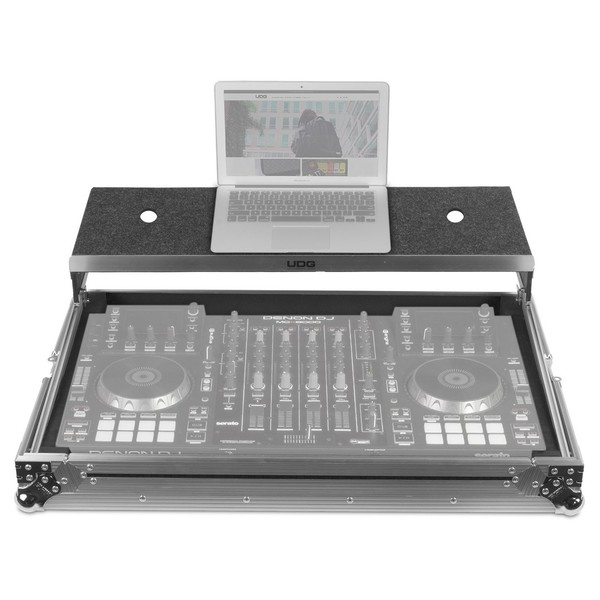 UDG FlightCase Multi Format XXL Plus (Laptop), Silver - Front Open (Controller and Laptop Not Included)