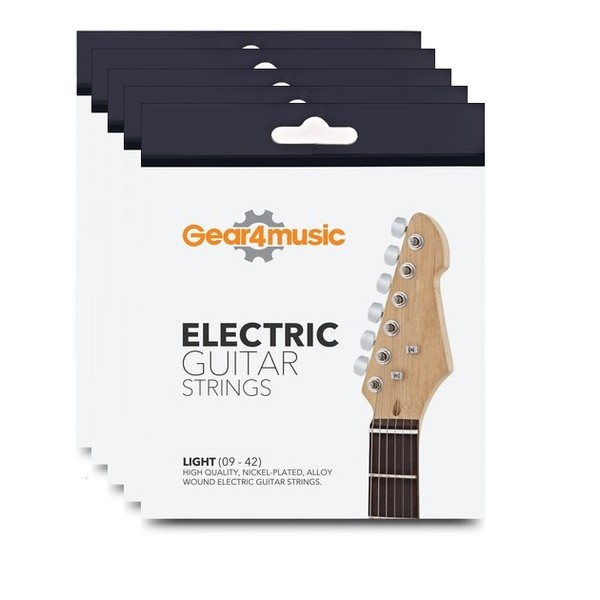 Pack of 5 - Gear4music Electric Guitar Strings